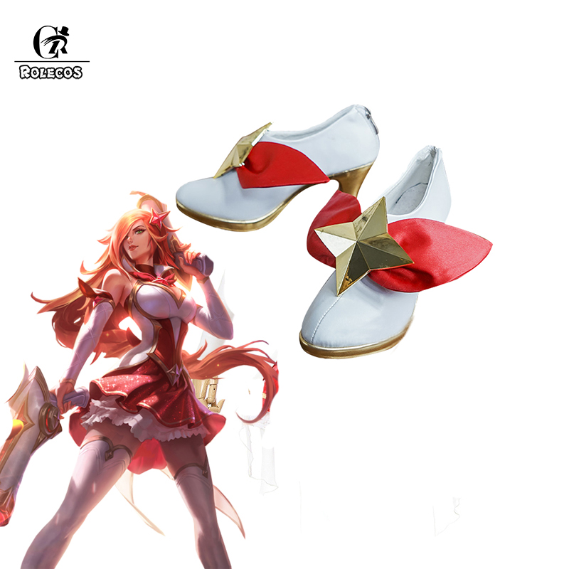 ROLECOS Star Guardian LOL Cosplay chaussures Miss Fortune Cosplay chaussures pour femmes