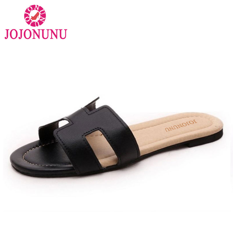 JOJONUNU New Arrival Quality Leisure Women Sandals Slippers Summer Shoes Beach Flip Flops Women Footwear Size 35-40 WA0181 new pattern brand quality leisure women sandals slippers summer fashion shoes beach flip flops women footwear size 36 40 wa0182