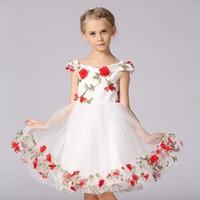 Girls Dress Summer Formal Evening Wedding Party Kids Princess Dresses Girls Clothing Children Flowers Sleeveless Girl Dress