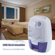מסיר לחות לחות בולם מיני אוויר מסיר לחות עם 500ML מים טנק אוויר מייבש עבור בית המטבח