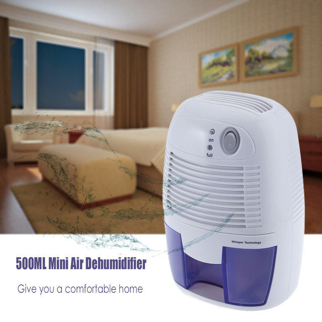 Invitop Portable Dehumidifier Moisture Absorber Mini Air With 500ml Water Tank Dryer For Home