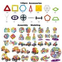 142PCS Magnetic Blocks Enlighten Construction Ferris wheel Designer 3D DIY Magnetic Building Blocks Educational Toy For Children