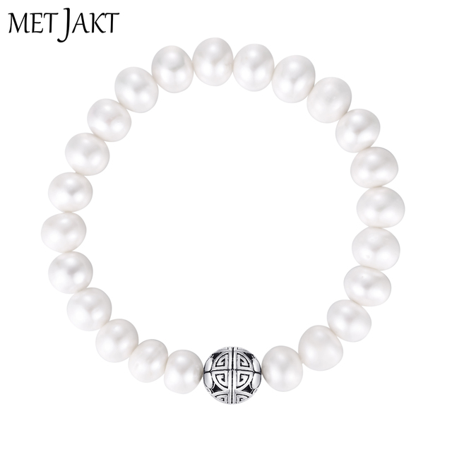 MetJakt Natural Freshwater Pearls 925 Sterling Silver