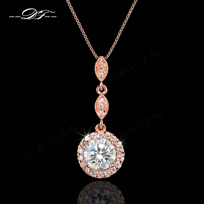 Vintage Cubic Zirconia Micro Pave Rose Gold/White Gold Plates