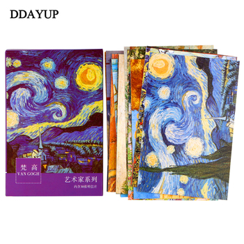 30sheets/lot Van Gogh Oil Painting Postcards Vintage Greeting wish Card Fashion Gift Merry Christmas