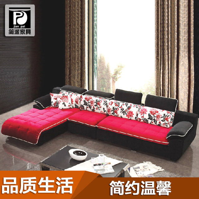 Elegant Factory Direct Combination Of Modern Living Room Corner Sofa Fabric Sofa  Living Room Furniture Sofa Part 17
