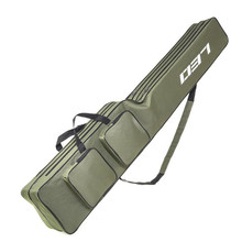 Army Green 1.3m Fishing Gear Package Foldable Canvas Fishing Rod Bag