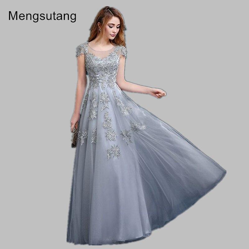 Robe de soiree 2017 gery/red V-Neck lace slim long banquet evening dress vestido de noche gowns prom dresses party dresses