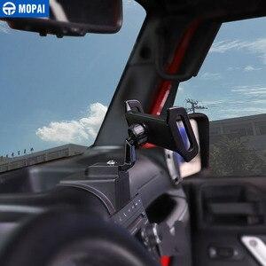 Image 2 - MOPAI ABS di Navigazione Per Auto GPS Staffa di Montaggio IPad/Supporto Del Telefono Mobile per Jeep Wrangler 2011 2017 Accessori Auto styling