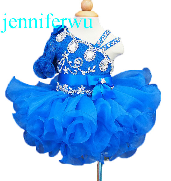 royal blue tutu skirt baby girl formal dress with stone beading 1T-6T G008-8