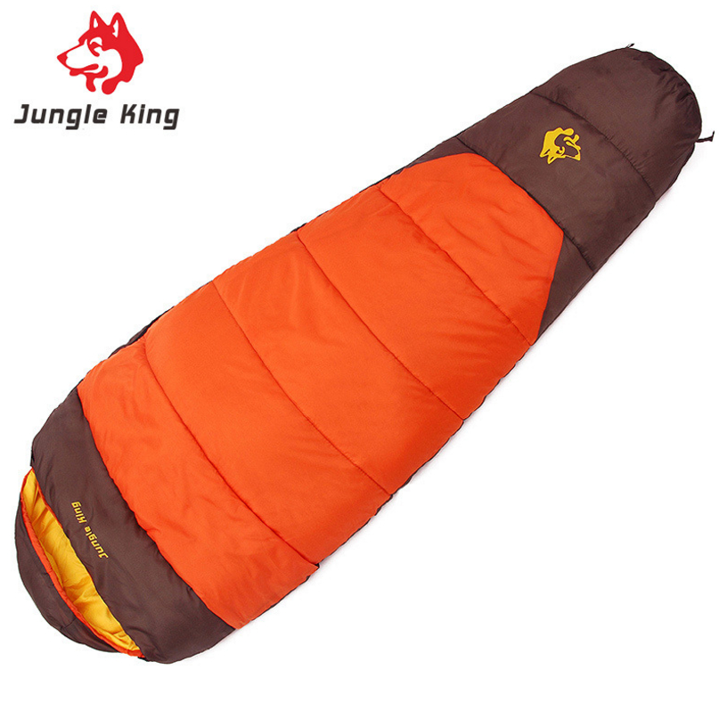 JUNGLE KING hiking camping sleeping bags winter cotton Outdoor mountaineering camping professional sleeping bags 1.7kg wholesale все цены