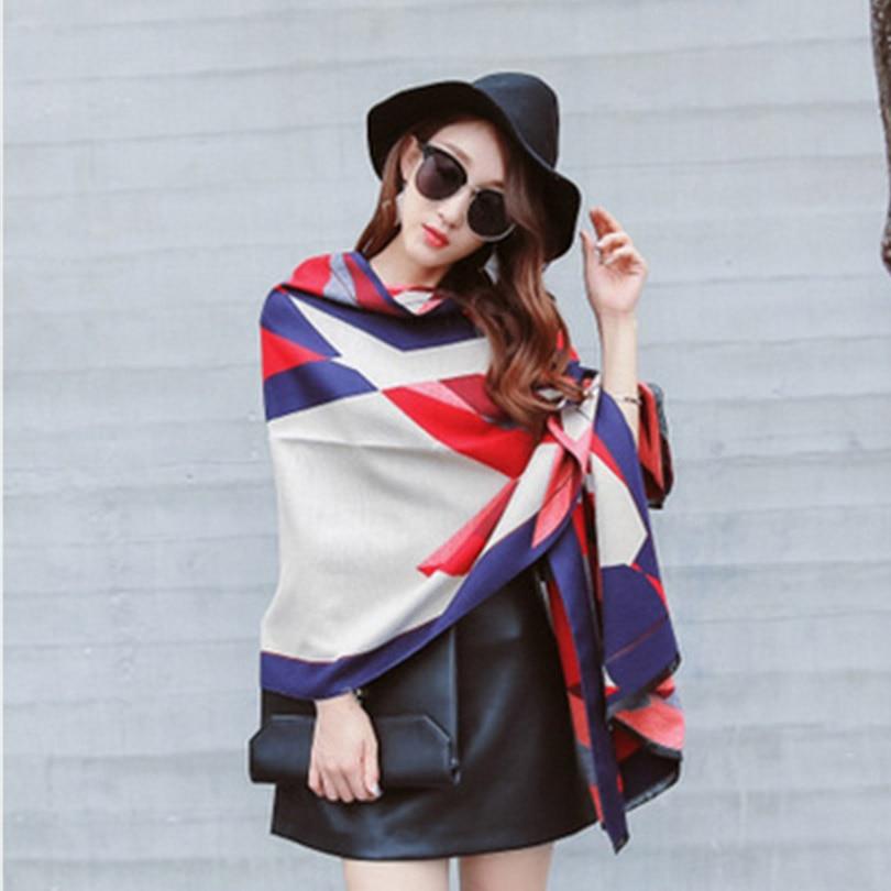 European Style Multicolor Ladies Scarf Cashmere Pashmina Winter Female Shawl 190 65cm Luxury Brand Soft font