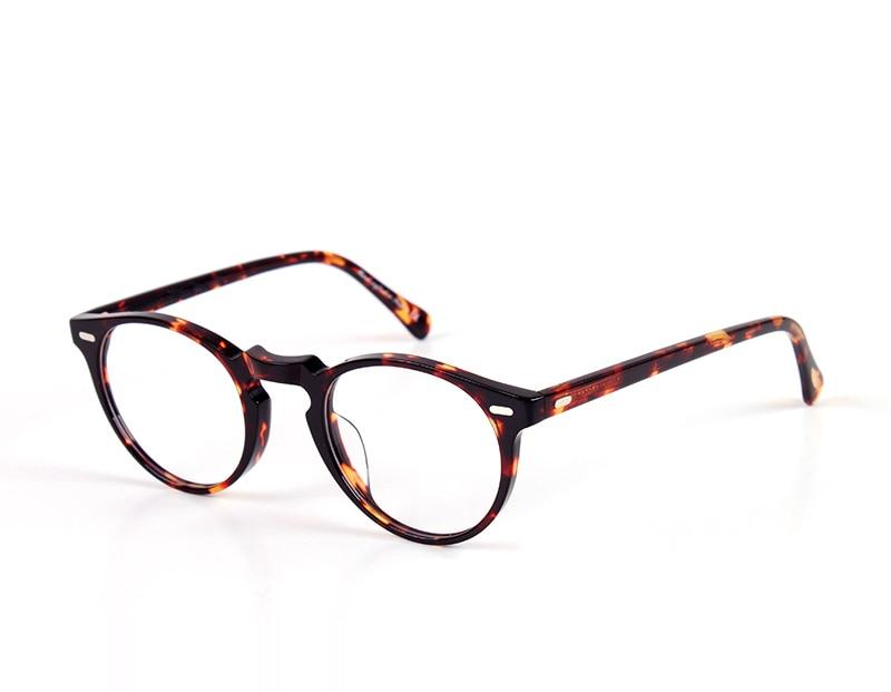 Klasszikus optikai szemüvegkeretek Vintage olvasó szemüvegek férfiak és nők számára, vényköteles szemüvegkeretek és eredeti tok