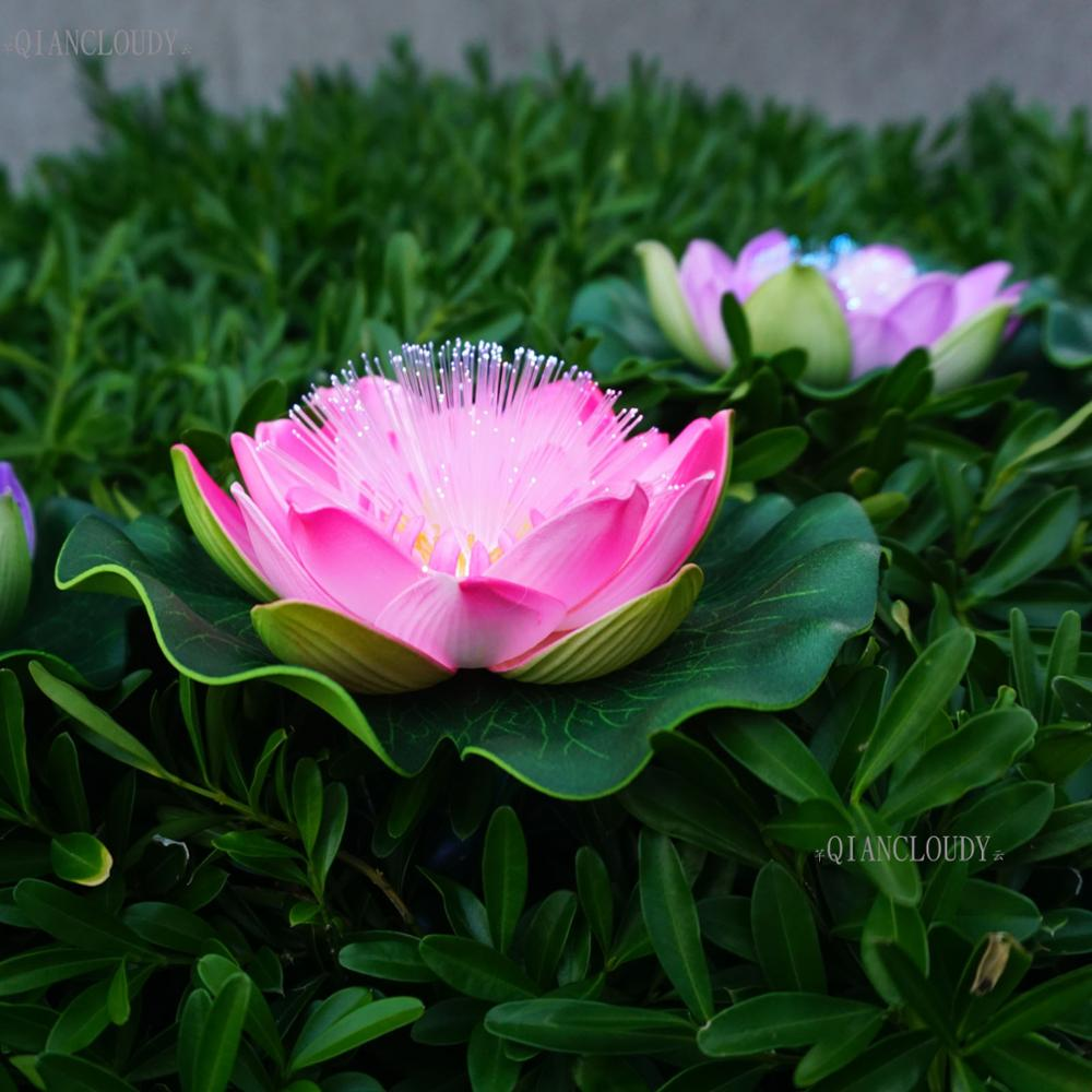 5 Pieces Hot Pink Artificial Fake Foam Lotus Flowers Water Pond