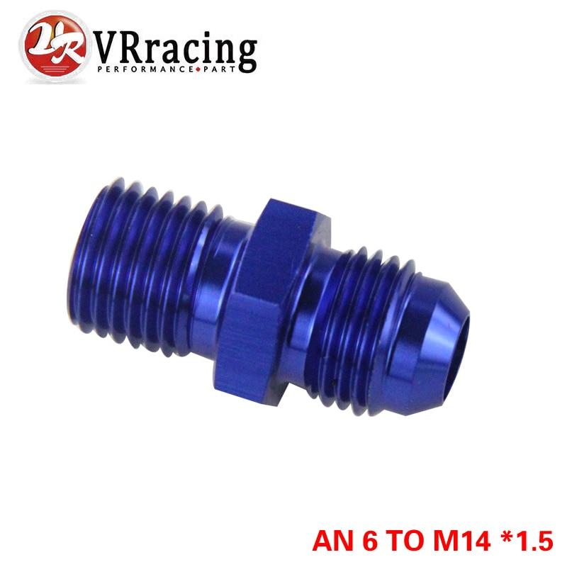 VR RACING-BLUE Male 6AN 6 An Flare to M14x1.5 (мм) метрический прямой фитинг от 6 до M14 * 1,5 Port. Адаптер VR-SL816-06-143-011