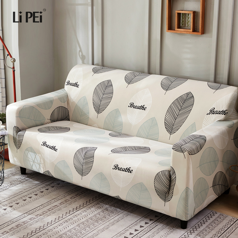 Sensational Leaves Slipcover Sofa Cover Tightly All Inclusive Wrap Single Double Three Four Seat Sofa Cover Elasticity Sofa Cover 1Pc Download Free Architecture Designs Xaembritishbridgeorg
