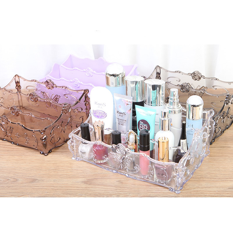 2017 Fashion Makeup Organizer Storage Box Plastic Make Up Organizer Cosmetic Organizer Makeup Storage Drawers Organizer 4 Colors