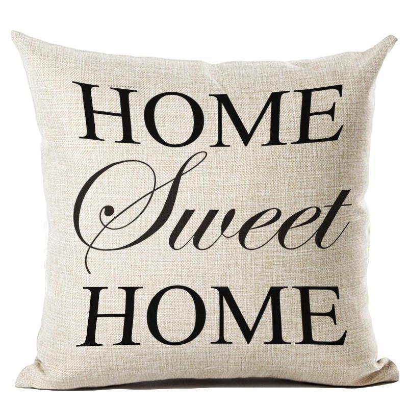 English Letter Pillow Text Font Inspirational Motivational
