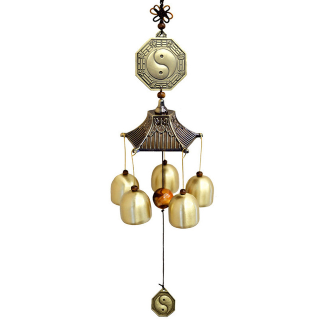 Chinese Traditional Taiji Feng Shui Wind Chimes Hanging Copper Bell Door Chimes Blessing Home Decoration Accessories  sc 1 st  AliExpress.com & Chinese Traditional Taiji Feng Shui Wind Chimes Hanging Copper Bell ...