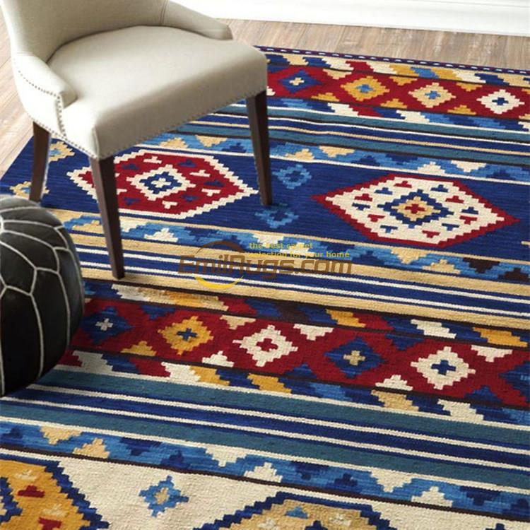 The Mediterranean Bohemian hand-woven wool keeley, kilim carpets/sitting room the bedroom carpet