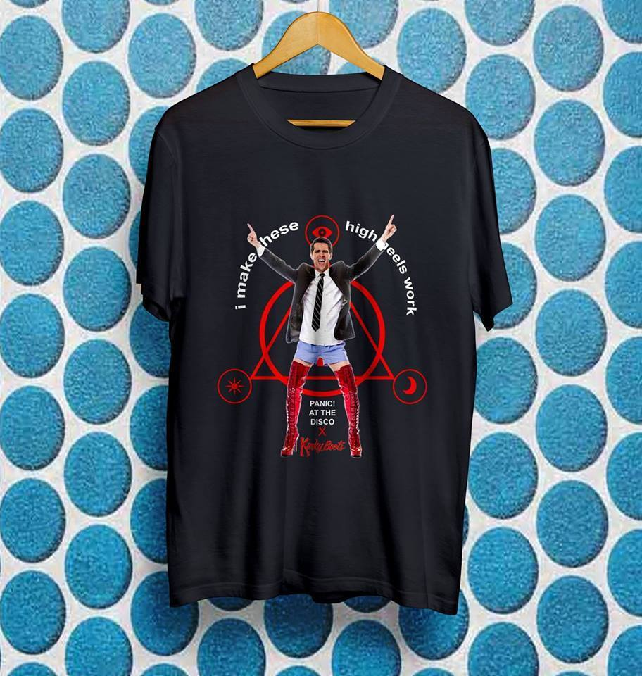 Kinky Boots Brendon Urie Panic! at the Disco 2017 GILDAN T-Shirt US Size #AZ+$