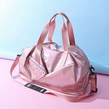 Ladies Female Duffle Bags Famous Brand Big Solid Zipper Nylon Pink Casual Weekender Bag Travel Women Organiser Bolsos