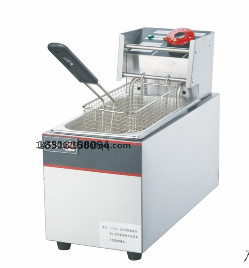 stainless steel commercial single tank electric chip chicken food oil potato deep fryer ovens with LPG gas fast food leisure fast food equipment stainless steel gas fryer 3l spanish churro maker machine