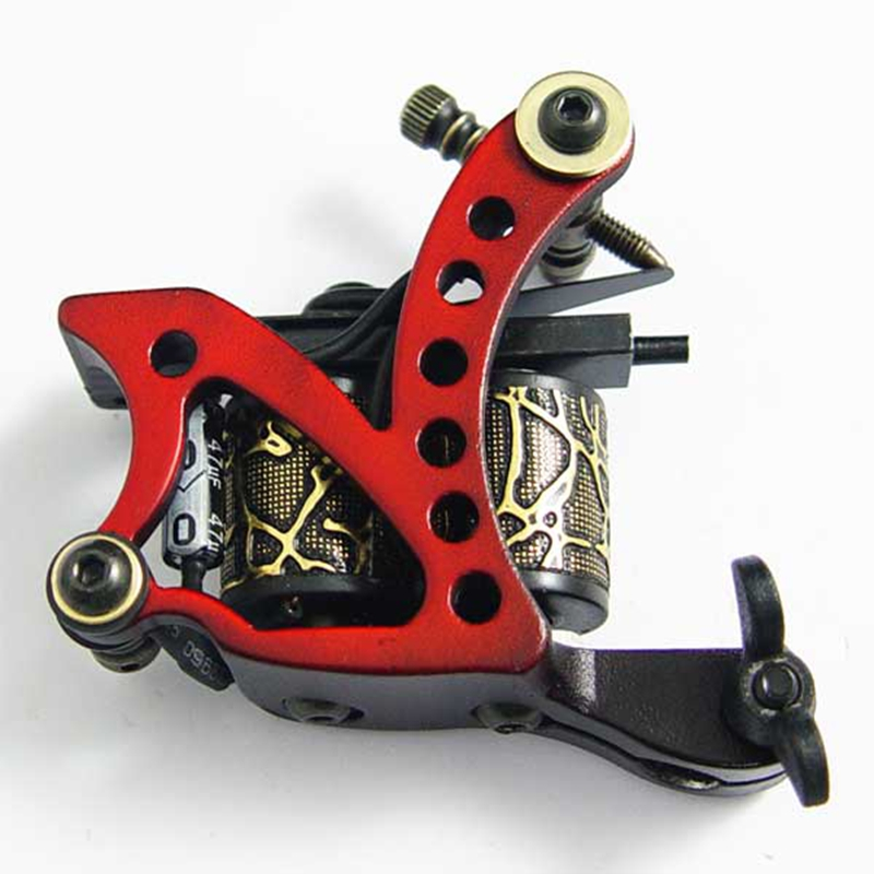 New Arrival Coil Tattoo Machine 8 Wrap Coils Tatoo Gun red Steel Tattoo Frame for Liner Shader Equipment Supply free shipping new arrival 2017 wholesale professional handmade tattoo 10 wrap coils machine for liner hot sale free shipping