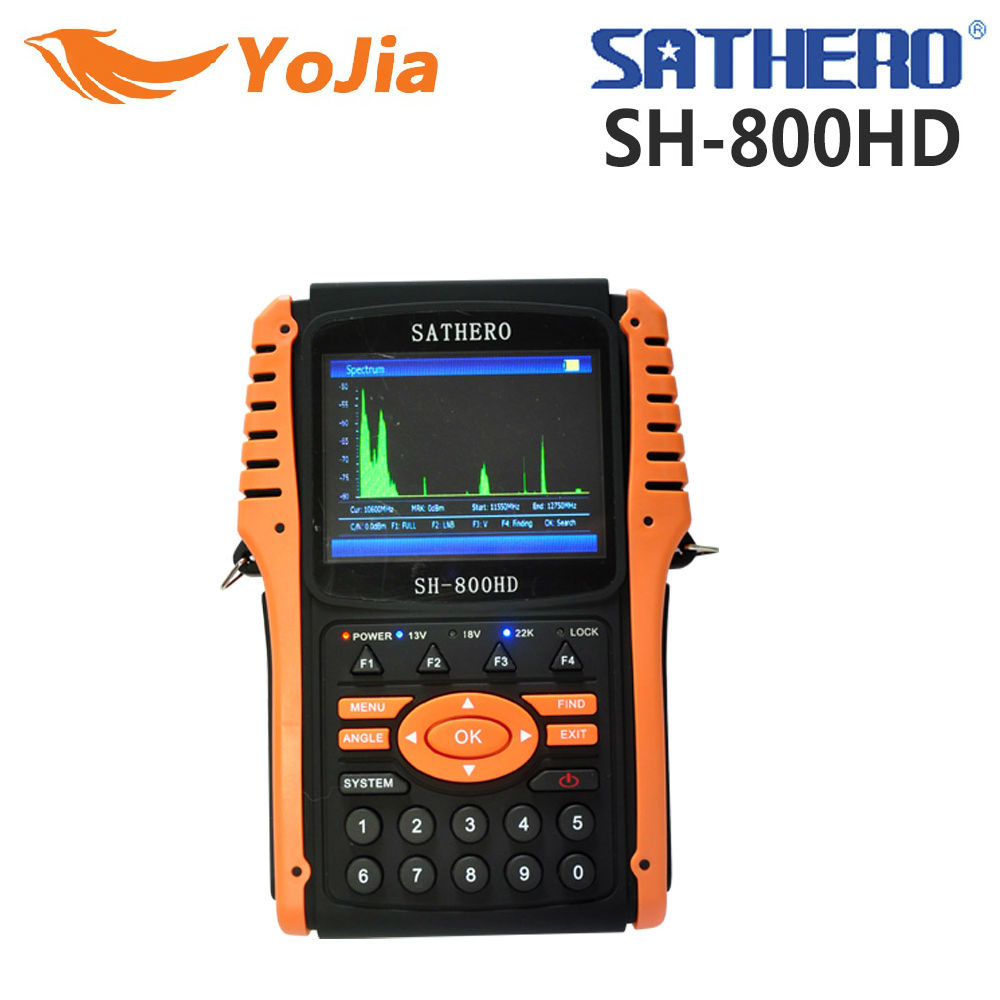 Yojia Original Sathero SH-800HD DVB-S2 Digital Satellite Finder Meter USB2.0 HD Output Satfinder HD with Spectrum Analyzer original dvb t satlink ws 6990 terrestrial finder 1 route dvb t modulator av hdmi ws 6990 satlink 6990 digital meter finder