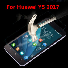 For Huawei Y5 2017 Case Tempered Glass Film 9H UltraThin Real Premium Screen Protector Cover For Huawei Y5 III/Y5 3 (5.0inch)