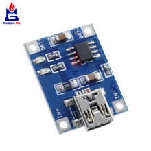 TP4056 Mini USB 5V 1A 18650 Lithium Battery Charger Board With Led Indicator Automatic Protection 4.5~5.5V