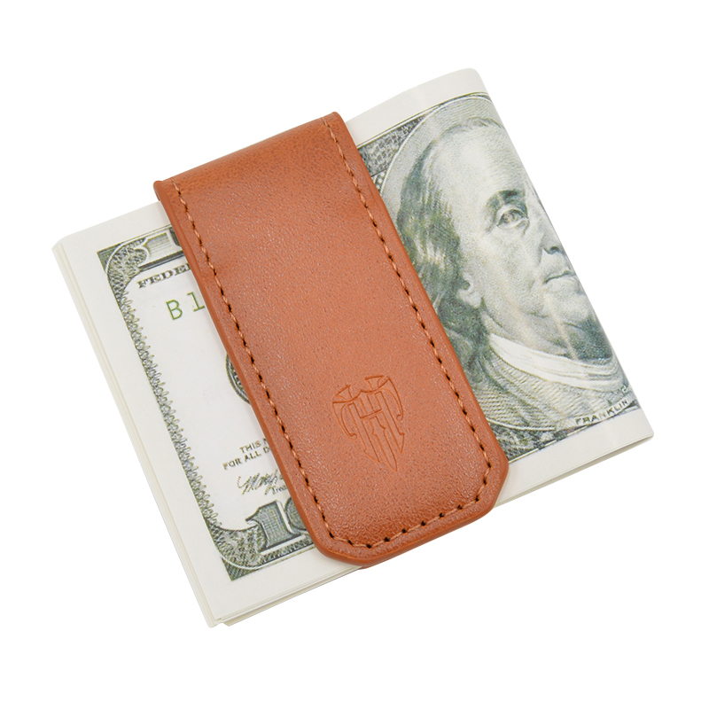 Money Clip Wallet Slim Men and Women Vintage Strong Magnet Money Clip Cow PU Leather Pocket Clamp Credit Card Cash Case Holder 2016 fashion money clip men wallets vintage leather magic wallet id credit card cash holder pocket mini purse for men msb003