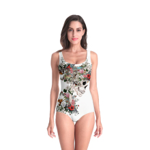 3D Print Summer women clothing flower rose Swimsuit high quality Beach Style Bodysuits Gothic skull Retro swimsuit Dropshipping flower print chevron swimsuit