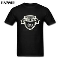 Mannen T-shirt Afdrukken Korte Mouw Katoen Custom Tee Shirt Man Rock N Roll Linkin Park Logo Volwassen Kleding