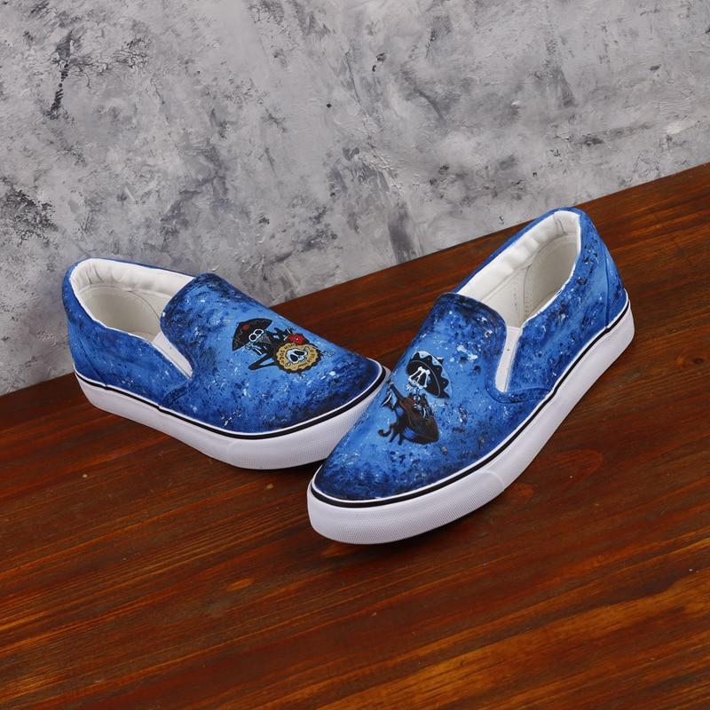 Mort Mexique Mexicain ly on wke07 Casual Unique La Design Crâne À Slip 0000 Main Mocassins Squelette Toile Imprimer Ts Chaussures Graffiti Plat Jour Peint vqxExw5