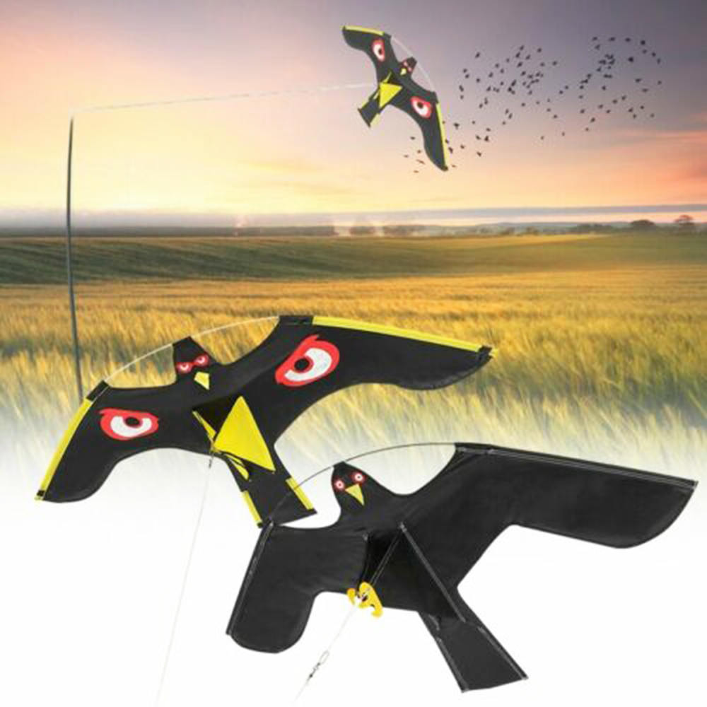 Emulation Bird Repeller Black Hawk Flying Kite Bird Scarer Pigeon Repellent Scarecrow Insect Pest Control Garden Supplies