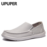 UPUPER Canvas Shoes Men Breathable Casual Shoes Men Shoes Loafers Soft Comfortable Lazy Shoes Flats Male