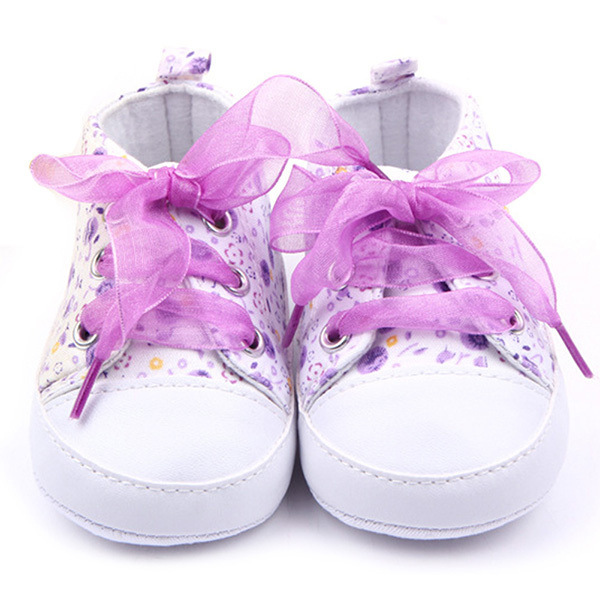 3 Sizes Toddler Girl Floral Soft Sole Baby Shoes Non-slip Sneaker Prewalker