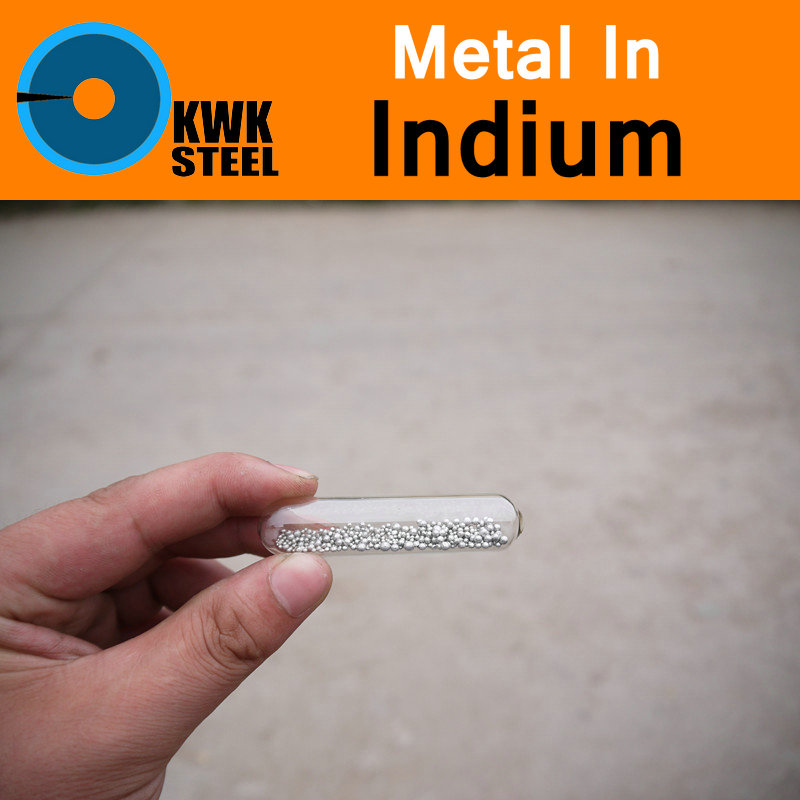 In Indium Ball Bead Pure 4N5 99.995% Periodic Table of Rare-earth Metal Elements for DIY Research Study Medicine Education