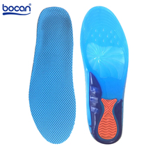 Bocan gel sport insoles Massaging Silicone Insoles Deodorant Pads Orthopedic Plantar Fasciitis Running shoe Insoles 2 sizes 6631