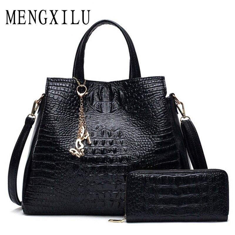Aligator Handbags Women Bags Designer Shoulder Bags Ladies High Quality PU Women Leather Handbags 2017 Composite Bag Sac Femme