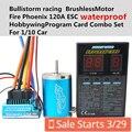 Bullistorm5.5T-13.5 Т/2 P Бессенсорное 3650 Безщеточный + HY Waterproof120A Датчиками ESC + Программа Card Combo набор Для 1/10 Автомобилей