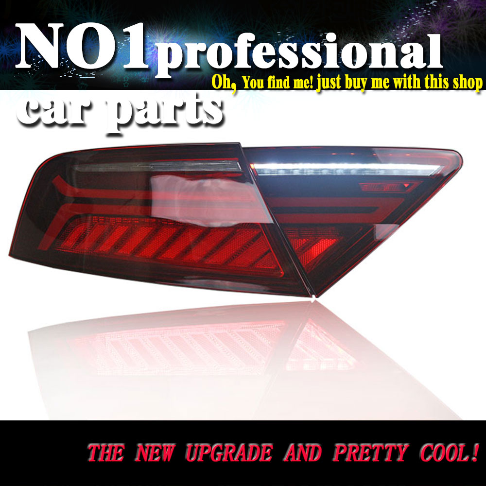Car Styling Taillight Accessories For Audi A7 Tail Lights 2011-2017 LED Tail Light Rear Lamp moving turn signal light taillight dongfeng for peugeot 408 2013 taillight rear light tail lamp assembly tail lights