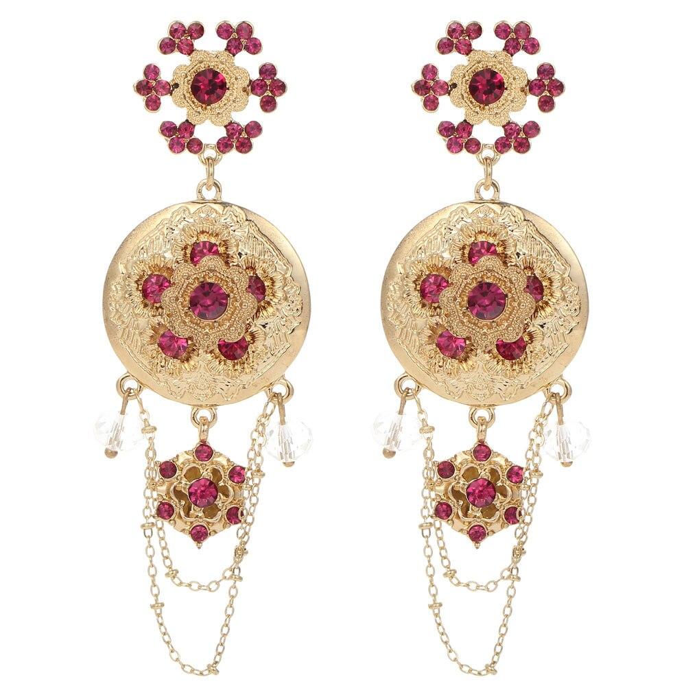 Plum Rhinestone Beads Gold Earring Women\'s Fashion Earrings New ...