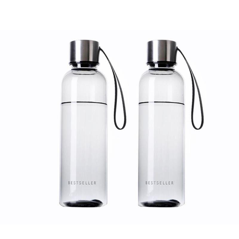 500ml Hot Brief Water Bottle Vogue Woman Men Water Bottle Leak Proof BPA Free Sports Drinking Water Bottle with Carry Strap