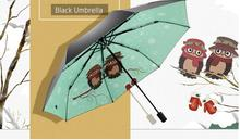New Owl Triple Sunumbrella with Black Rubber for Sunshade, Sunshine and Ultraviolet Protection free shipping