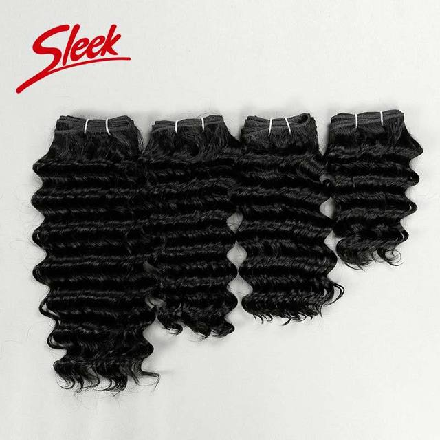 "Sleek Brazilian Virgin Hair, Full Head Set Hair Weaving 4pcs/set Brazilian Deep Wave(8"",10"",12"",14"") Aliexpress UK Free Shipping"