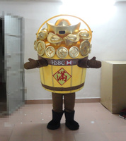 The shape of the barrel Shoe shaped Gold Ingot Mascot Costume Sycee Ingot Coin Silver Bar Bullion Holiday special clothing