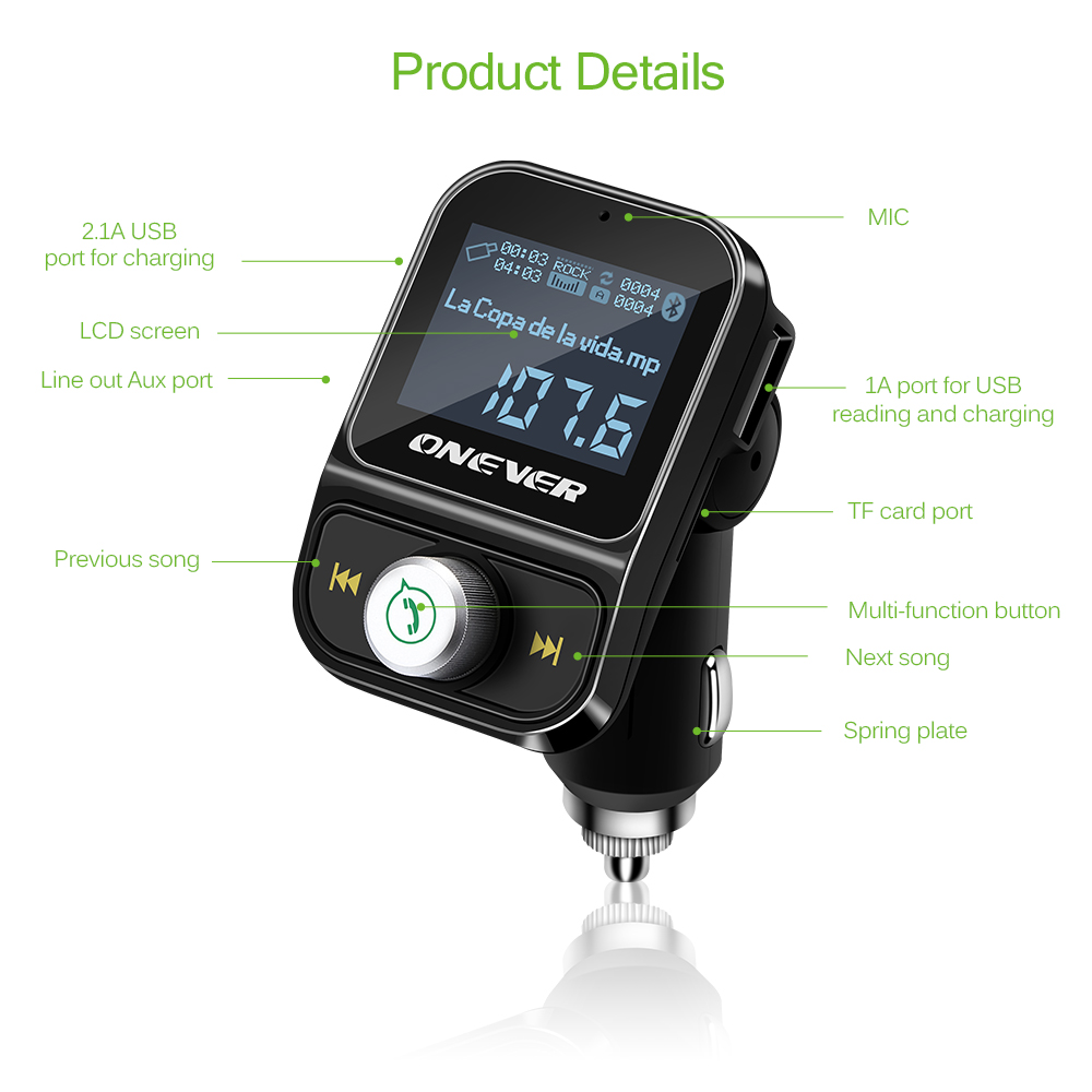 Hy88 Car Kit Bluetooth Fm Transmitter Mp3 Player Charger Hands Free Dc 5v Micro Usb Power Supply Lcd Screen Call Wireless Modulator 31a Audio Tf Slot Voltage Frequency In Transmitters From