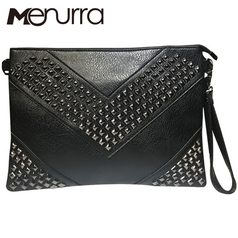Envelope-Bag Clutch-Bag Crossbody-Bag Rivet Messenger Small Women PU